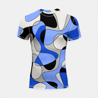 Imagen en miniatura de Abstract pattern - blue and white. Shortsleeve rashguard, Live Heroes