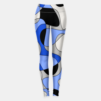 Miniatur Abstract pattern - blue and white. Leggings, Live Heroes
