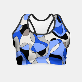 Miniatur Abstract pattern - blue and white. Crop Top, Live Heroes
