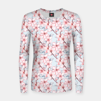 Thumbnail image of Cherry blossom Women sweater, Live Heroes