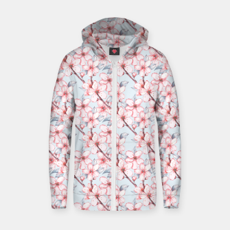 Thumbnail image of Cherry blossom Zip up hoodie, Live Heroes