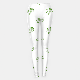 Miniatur Happy St Patricks Day Symbol Motif Pattern Leggings, Live Heroes