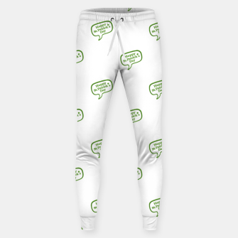 Miniatur Happy St Patricks Day Symbol Motif Pattern Sweatpants, Live Heroes