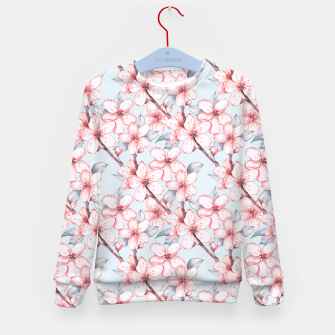 Thumbnail image of Cherry blossom Kid's sweater, Live Heroes