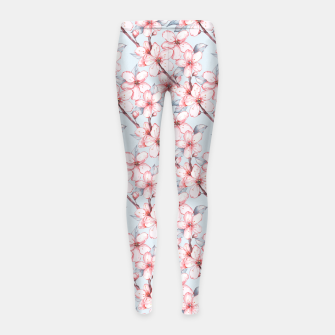 Thumbnail image of Cherry blossom Girl's leggings, Live Heroes