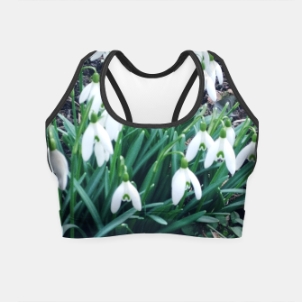 Thumbnail image of snowdrops Crop Top, Live Heroes