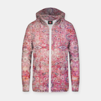 Pink Boho Traditional Vintage Moroccan Style Zip up hoodie thumbnail image