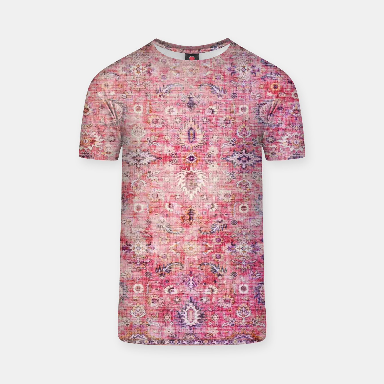 Image of Pink Boho Traditional Vintage Moroccan Style T-shirt - Live Heroes