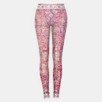 Thumbnail image of Pink Boho Traditional Vintage Moroccan Style Leggings, Live Heroes