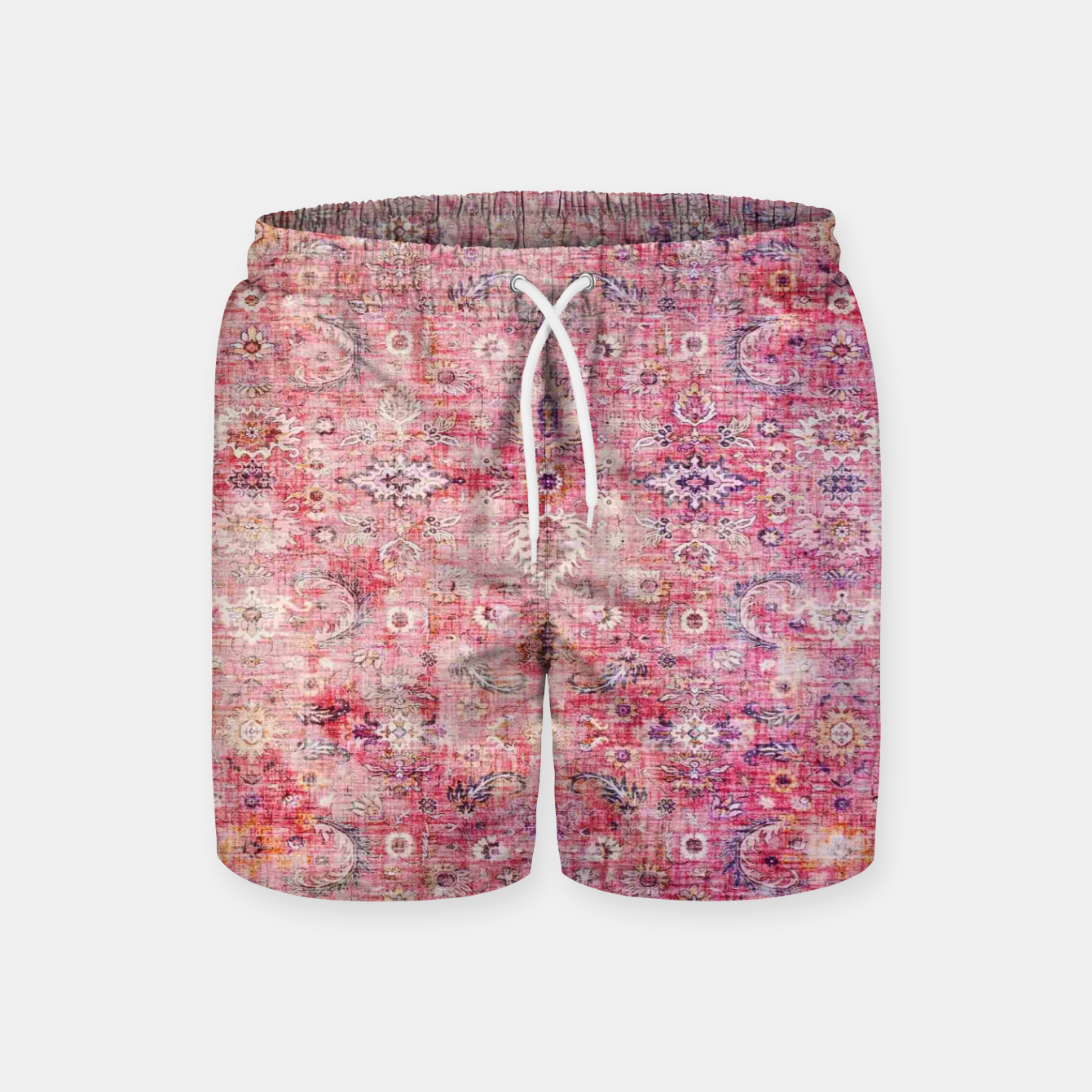 Image of Pink Boho Traditional Vintage Moroccan Style Swim Shorts - Live Heroes