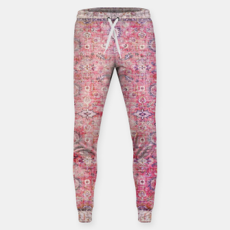 Pink Boho Traditional Vintage Moroccan Style Sweatpants thumbnail image