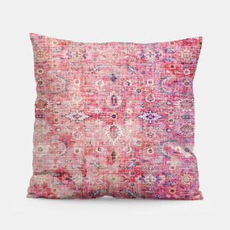 Pink Boho Traditional Vintage Moroccan Style Pillow thumbnail image