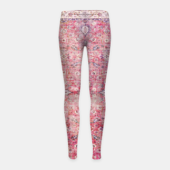 Thumbnail image of Pink Boho Traditional Vintage Moroccan Style Girl's leggings, Live Heroes