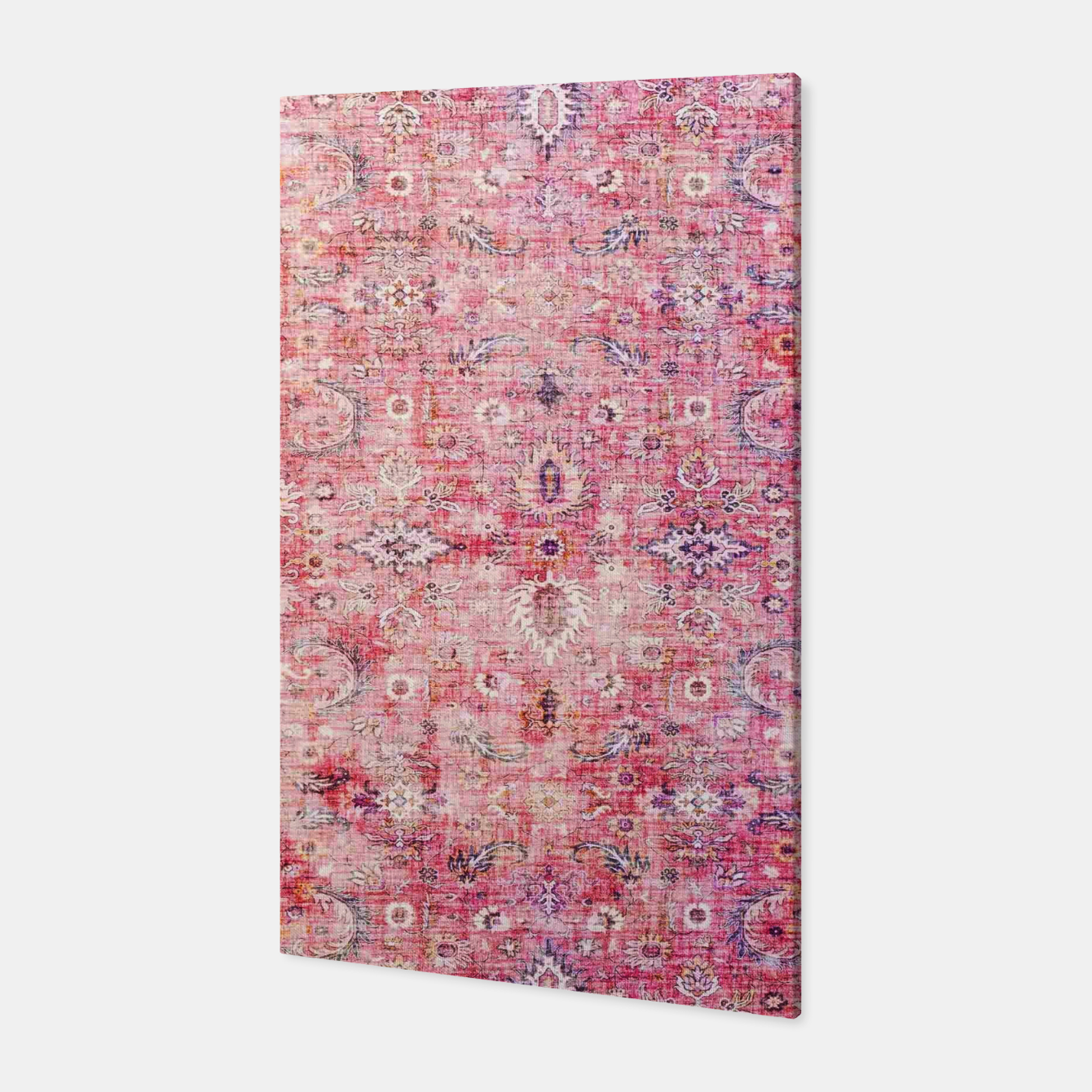 Image of Pink Boho Traditional Vintage Moroccan Style Canvas - Live Heroes