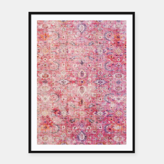 Pink Boho Traditional Vintage Moroccan Style Framed poster thumbnail image