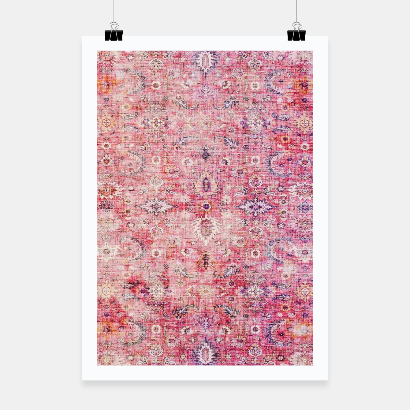 Image of Pink Boho Traditional Vintage Moroccan Style Poster - Live Heroes