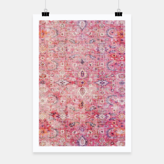 Pink Boho Traditional Vintage Moroccan Style Poster thumbnail image