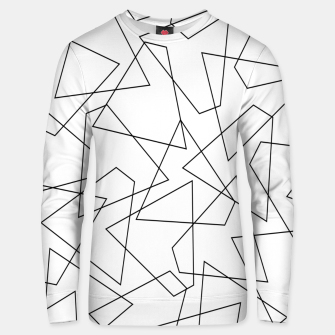 Miniatur Abstract geometric pattern - black and white. Unisex sweater, Live Heroes
