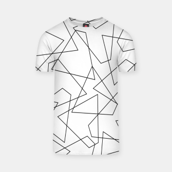 Miniatur Abstract geometric pattern - black and white. T-shirt, Live Heroes