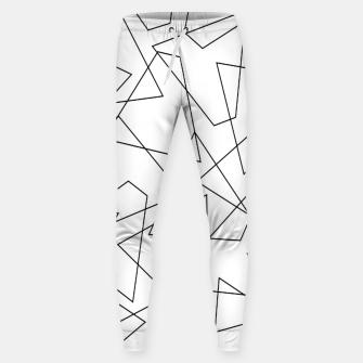 Miniatur Abstract geometric pattern - black and white. Sweatpants, Live Heroes