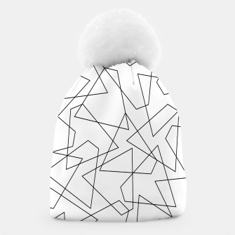 Miniatur Abstract geometric pattern - black and white. Beanie, Live Heroes