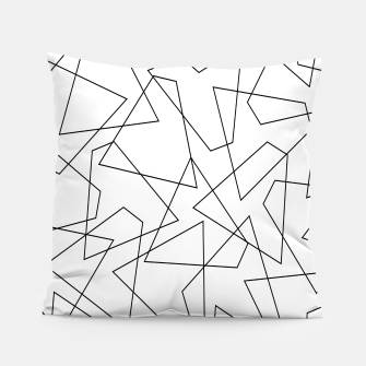 Miniatur Abstract geometric pattern - black and white. Pillow, Live Heroes