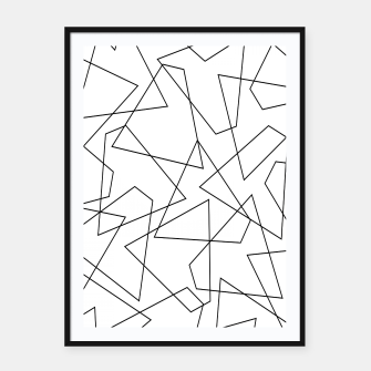 Miniatur Abstract geometric pattern - black and white. Framed poster, Live Heroes