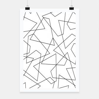 Miniatur Abstract geometric pattern - black and white. Poster, Live Heroes