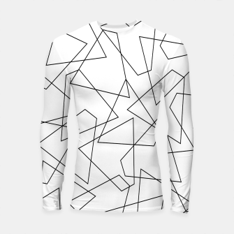 Miniatur Abstract geometric pattern - black and white. Longsleeve rashguard , Live Heroes