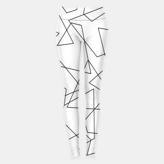 Miniatur Abstract geometric pattern - black and white. Leggings, Live Heroes