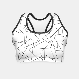 Miniaturka Abstract geometric pattern - black and white. Crop Top, Live Heroes