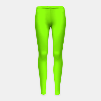 Miniatur color chartreuse Girl's leggings, Live Heroes