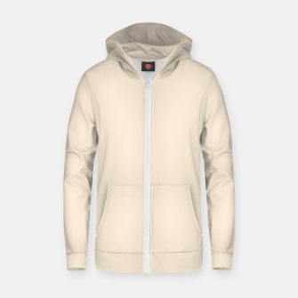Miniatur color antique white Zip up hoodie, Live Heroes