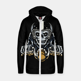 Miniature de image de Death Biker Zip up hoodie, Live Heroes
