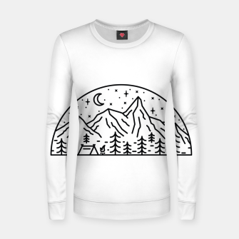 Miniatur Camping Women sweater, Live Heroes