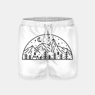 Miniatur Camping Swim Shorts, Live Heroes
