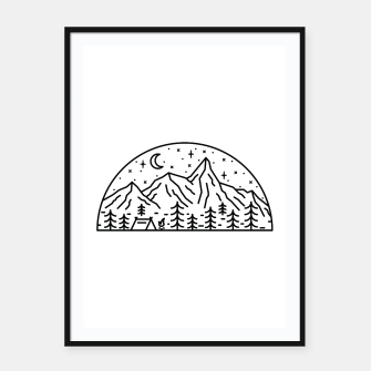 Miniatur Camping Framed poster, Live Heroes