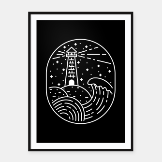 Miniatur Lighthouse Framed poster, Live Heroes