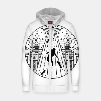 Miniatur Alien Invasion Zip up hoodie, Live Heroes