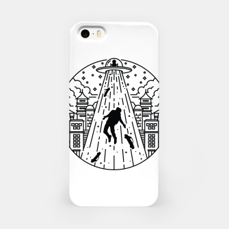 Miniatur Alien Invasion iPhone Case, Live Heroes