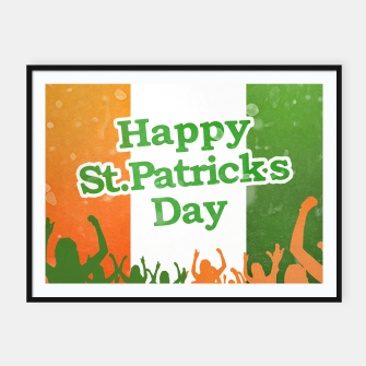 Thumbnail image of Happy St Patricks Day Celebration Design Framed poster, Live Heroes
