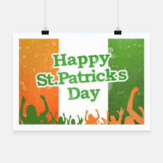 Miniaturka Happy St Patricks Day Celebration Design Poster, Live Heroes