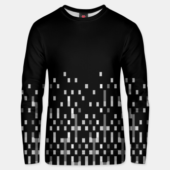 Black and White Matrix Patterned Design Unisex sweater obraz miniatury