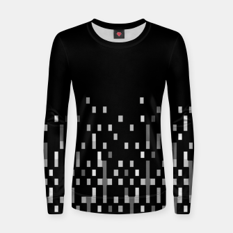Black and White Matrix Patterned Design Women sweater obraz miniatury