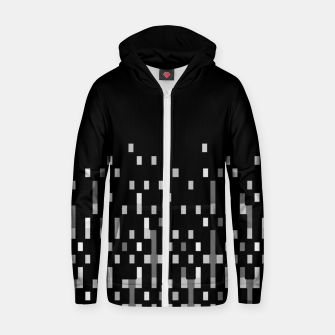 Black and White Matrix Patterned Design Zip up hoodie obraz miniatury