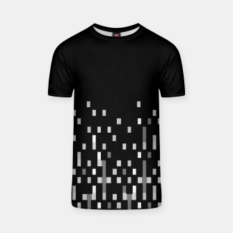 Miniatur Black and White Matrix Patterned Design T-shirt, Live Heroes