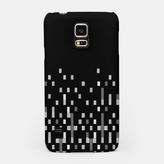 Black and White Matrix Patterned Design Samsung Case obraz miniatury