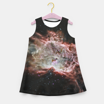 Thumbnail image of Space and Galaxy Girl's summer dress, Live Heroes