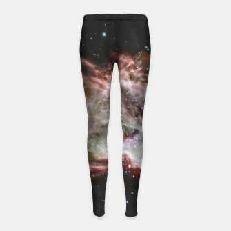 Miniaturka Space and Galaxy Girl's leggings, Live Heroes