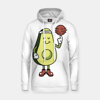 Avocado Playing Ball Hoodie Bild der Miniatur